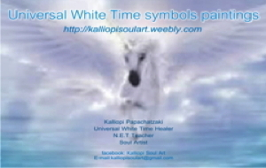 Universal White Time Symbols hand painted